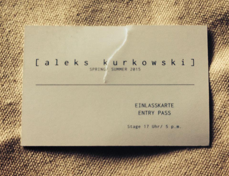 Aleks Kurkowski – ein grünes Avantgarde-Label auf der Mercedes Benz Fashion Week Berlin